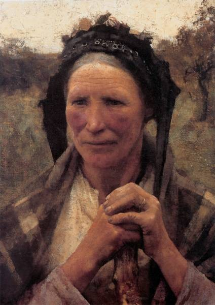 Clausen Head of a Peasant Woman